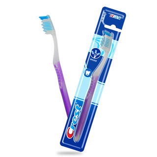 Crest 佳洁士 牙刷软毛三重护理成人牙刷 清洁口腔 呵护牙龈牙齿(三重刷毛 保护牙龈 颜色随机发放)