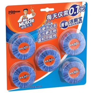 京东PLUS会员 : Mr Muscle 威猛先生 洁厕块 40g *5 *4件