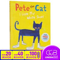 英文原版绘本Pete the Cat I Love My White Shoes 皮特猫 吴敏兰书单