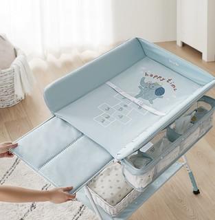 KUB 可优比 婴儿折叠护理台 天蓝色 60*75*42cm