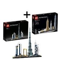 再补货、女神超惠买、考拉海购黑卡会员:LEGO 乐高 Architecture建筑系列 21028 纽约+21052 迪拜