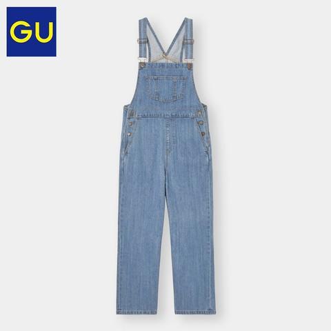 GU 极优 330818 女士牛仔背带裤