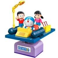 Keeppley哆啦A梦联名款积木手办拼装模型动漫周边玩偶方头人仔桌面摆件礼物 时光机(含3人仔)K20401
