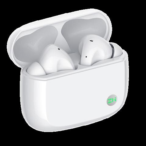 紫米(ZMI)PurPods Pro真无线降噪蓝牙耳机 主动降噪通透模式持久续航运动通用苹果小米手机TW100ZM白
