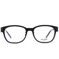 SAINT LAURENT 圣罗兰 SL M46/F 001 中性金属光学眼镜架 黑色