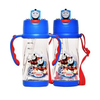 托马斯&朋友(Thomas&Friends) 儿童水杯手柄背带两用水壶宝宝吸管杯学生杯ppsu 380ml (托马斯)7255 *2件