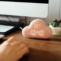 冰箱貼鬧鐘女士專用可愛靜音床頭充電小鬧鐘廚房夜光電子鐘表兒童