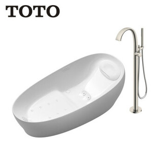 TOTO 东陶 气泡按摩冲浪浴缸太空眠入浴技术PJYD2200PW+单柄浴缸龙头