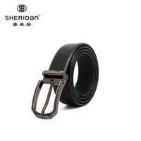 京東PLUS用戶: Sheridan喜來登 男士皮帶 頭層牛皮針扣式腰帶 禮盒裝 NL190351S