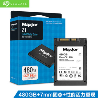 SEAGATE 希捷 迈拓Z1 固态硬盘 480GB SATA接口 YA480VC10001