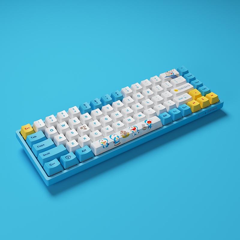 5日0点 : Akko 艾酷 3068 V2 无线双模机械键盘 68键 哆啦A梦联名