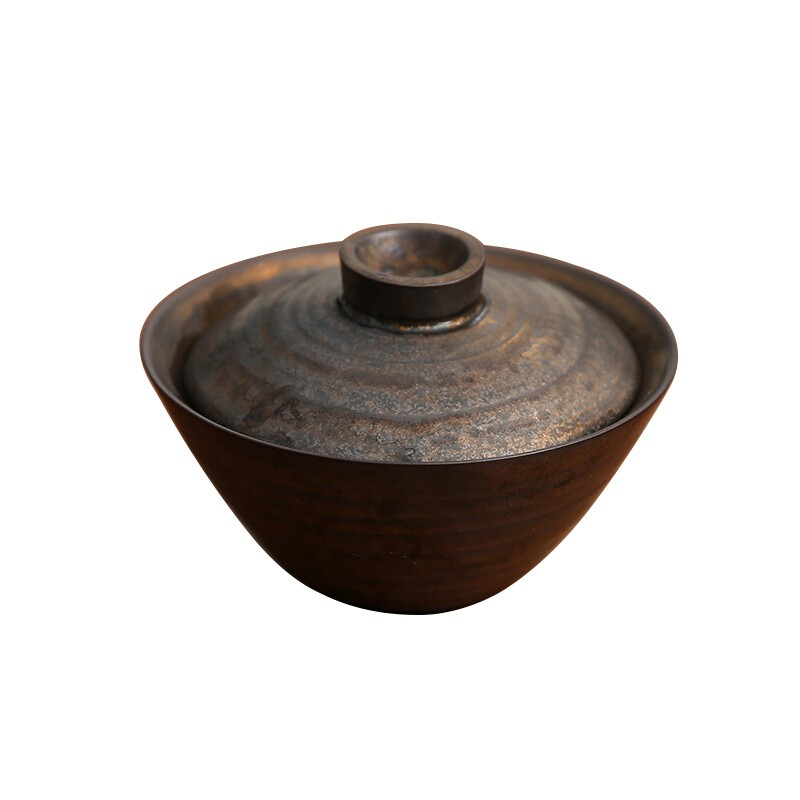SUYI 素以 日式原矿铁釉手工盖碗 200ML