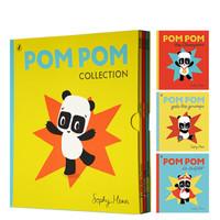 《PomPom熊猫绘本》 英文原版童书 3册套装