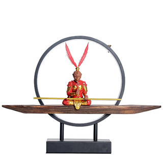 炼器 桌面摆设  静思大圣 红凤尾 灯圈