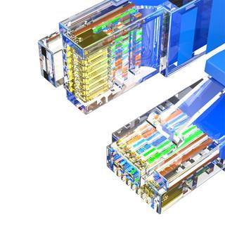 HONGDAK 六类CAT6 千兆网线 蓝色 8m