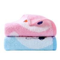 KINGSHORE 金号 米菲联名款 MFT1001WH 毛巾套装 2条装 48*25.5cm 45g 红色+蓝色
