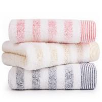 SANLI 三利 纯棉毛巾 3条装 红色/蓝色/黄色(33*72cm)