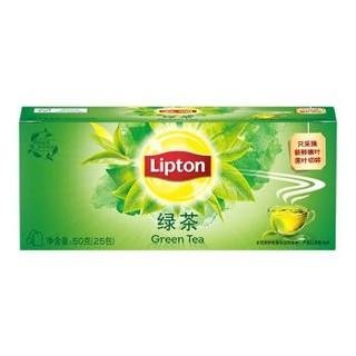 立顿Lipton  绿茶  茶叶 冲饮袋泡茶包2g*25 *2件