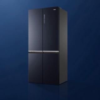 Haier 海尔 Tech Blue系列 BCD-496WSEBU1 风冷十字对开门冰箱 496L 深海蓝