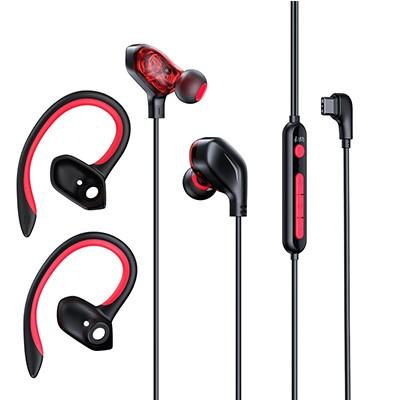 BASEUS 倍思 C18 入耳式挂耳式有线耳机 有线充电 暗黑色