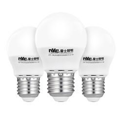 NVC Lighting 雷士照明 nvc-lighting 雷士照明 E-NLED001J/3W e27螺口节能灯泡 3W