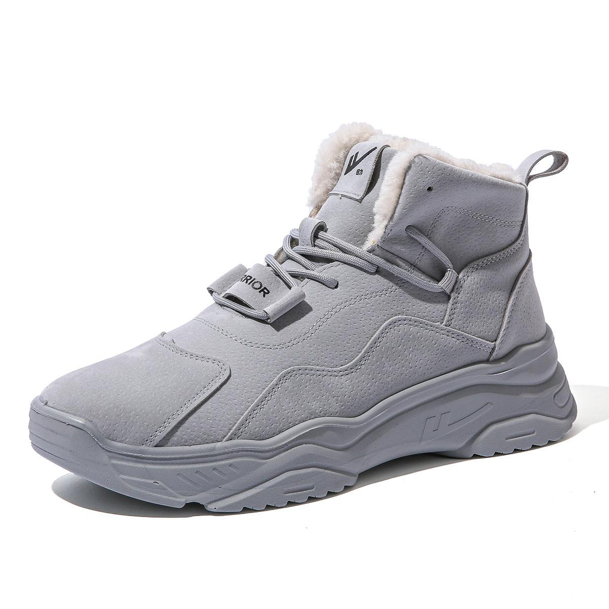 WARRIOR 回力 女子休闲马丁靴 HLACX-2H  灰色 39
