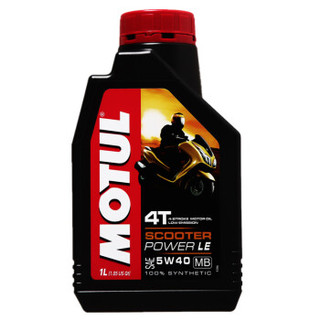 MOTUL 摩特 SCOOTER POWER 4T 全合成摩托车机油 5W-40 SN级 1L *4件