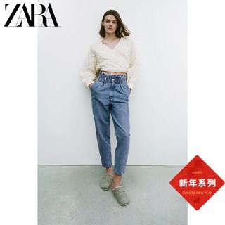 ZARA 08197860400 女装宽松牛仔裤