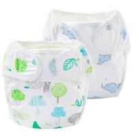 Nan ji ren 南极人 婴儿尿布裤2条装 大象+小树 S码