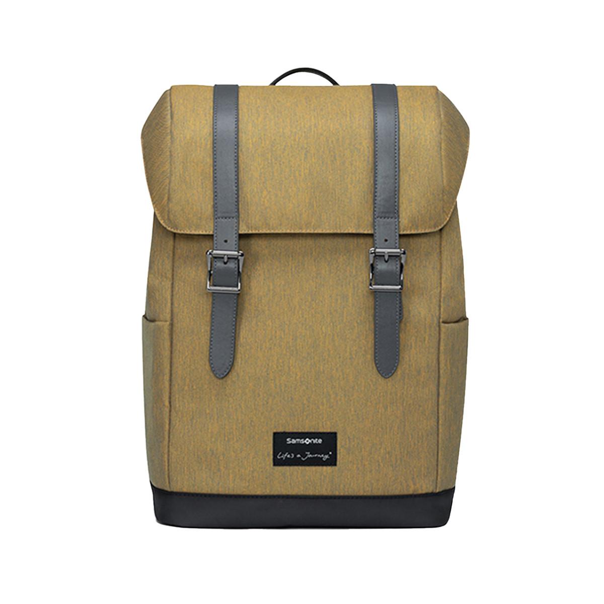 Samsonite Samsonite/新秀丽工装背包大容量翻盖双肩包学院风校园书包TT1101