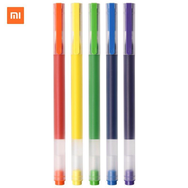 MI 小米 巨能写 多彩中性笔 0.5mm 5支/盒
