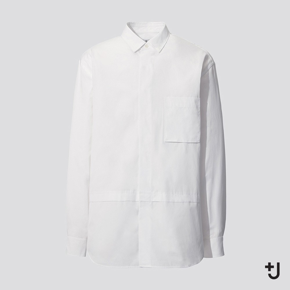 UNIQLO 优衣库 436112 男装 +J 宽松廓形衬衫