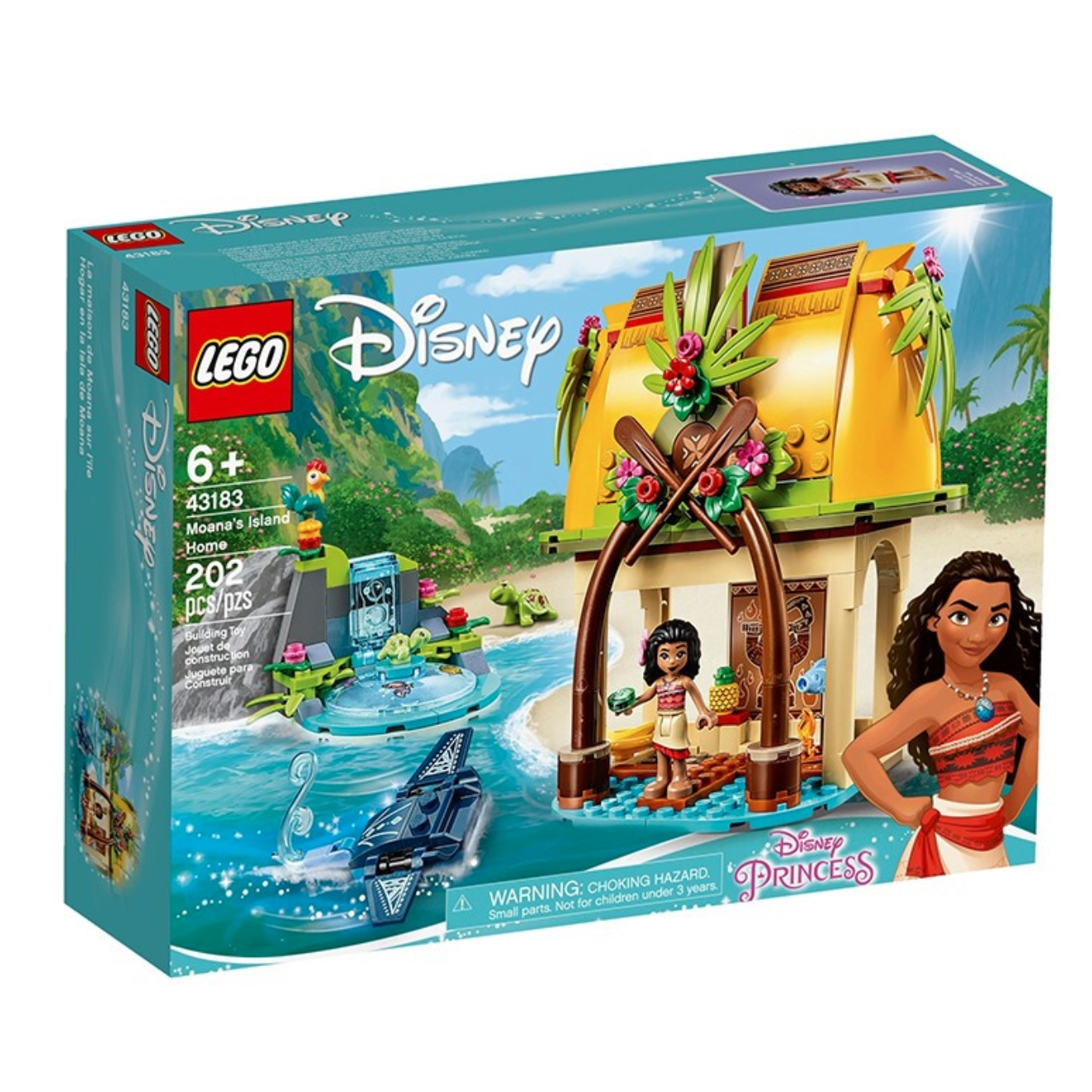 LEGO 乐高 迪士尼系列 43183  莫阿娜的海岛之家