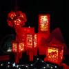 创意2021牛年新年春节过年LED发光大红灯笼挂件夜晚装饰布置用品