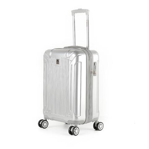 外交官(Diplomat)镜面扩充层箱子登机箱行李箱男女旅行箱万向轮拉杆箱密码箱TC-6012 20英寸 银色 *2件