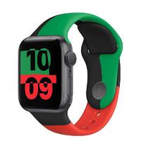 新品发售:Apple 苹果 Watch Series 6 智能手表 Black Unity限量款 GPS 40mm