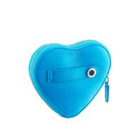 BVLGARI 寶格麗 絎縫小羊皮心形零錢包限量版 淺藍色