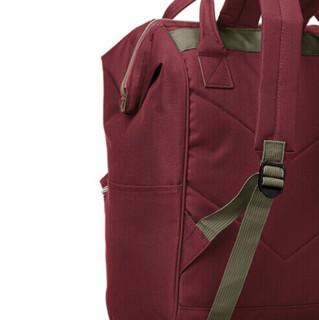 anello 阿耐洛 男女款双肩背包 AT-B0197B 酒红色 小号