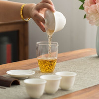 SUYI 素以  白瓷便携式旅行茶具套装 1壶3杯