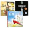《凯迪克金奖绘本系列:火车头+灯船+登月》(精装、套装共3册)