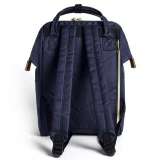 anello 阿耐洛 男女款双肩背包 AT-B0197B 藏青色 小号
