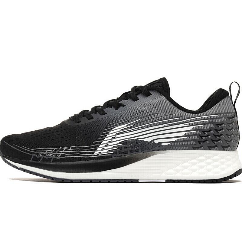 LI-NING 李宁 跑步系列 赤兔 4 男子 跑鞋 ARBP037-1 黑灰白色 44