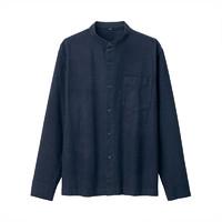 MUJI 无印良品 19AC775 男士法兰绒立领衬衫