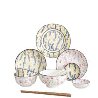 竹木本记 陶瓷餐具套装 12件套