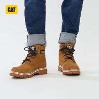 CAT 卡特彼勒 牛剖皮压褶EASE科技耐磨透气女式休闲靴工装靴