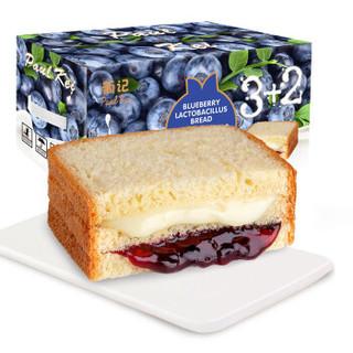 葡记 吐司面包 蓝莓乳酸菌味 1kg *5件