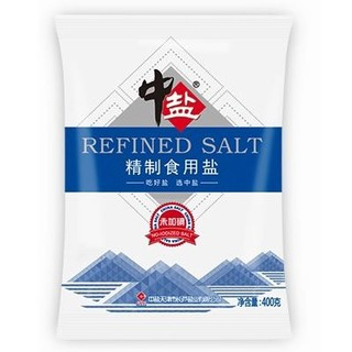 中盐无碘盐400克6袋家用
