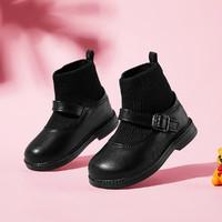 哈比熊 女童英伦风袜子靴