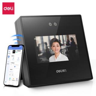得力(deli)智能企业云考勤机 人脸识别 手机无接触考勤 wifi联网打卡机 D4