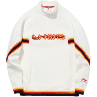 LI-NING 李宁 2020年秋冬系列 男子运动卫衣 AWDQ859-1 乳白色 L